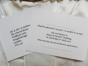 Daisy chain RSVP Cards and Guest Information Cards