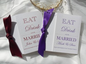 Wedding Invitations and Renewal of Wedding Vows