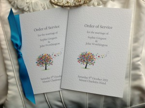Order of service cards from Daisy Chain Invites