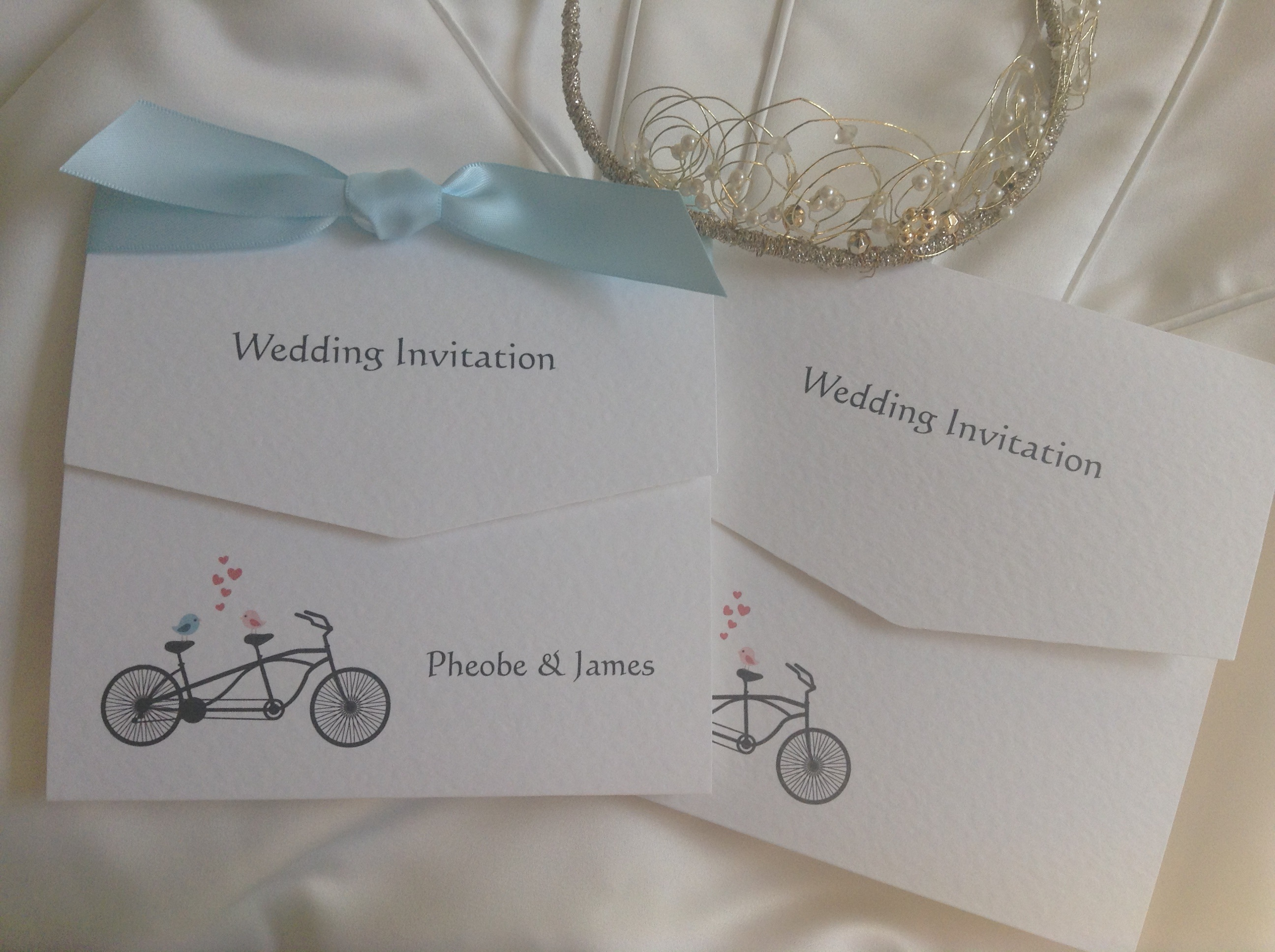 spring butterfly tri fold wedding invitations cards with