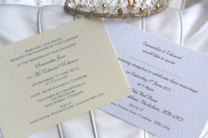 Professionally Printed Wedding Invitations for 60p each