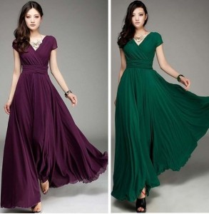 Burgundy and Emerald Bridesmaid Dresses