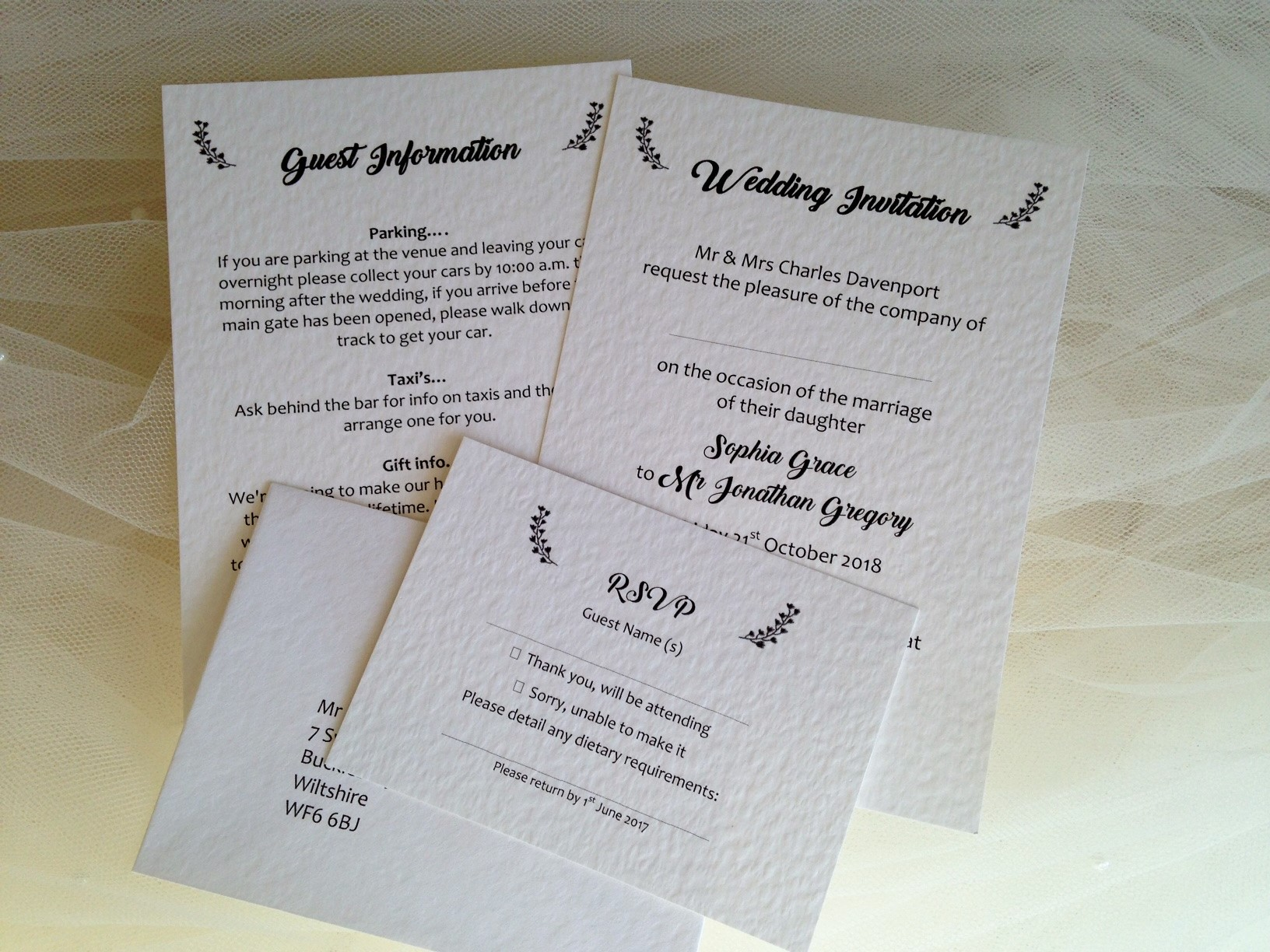 Wedding invitations wedding stationery affordable prices rsvp cards and guest information cards stopboris Choice Image