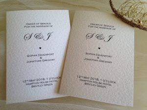 Wedding Order of Service Books