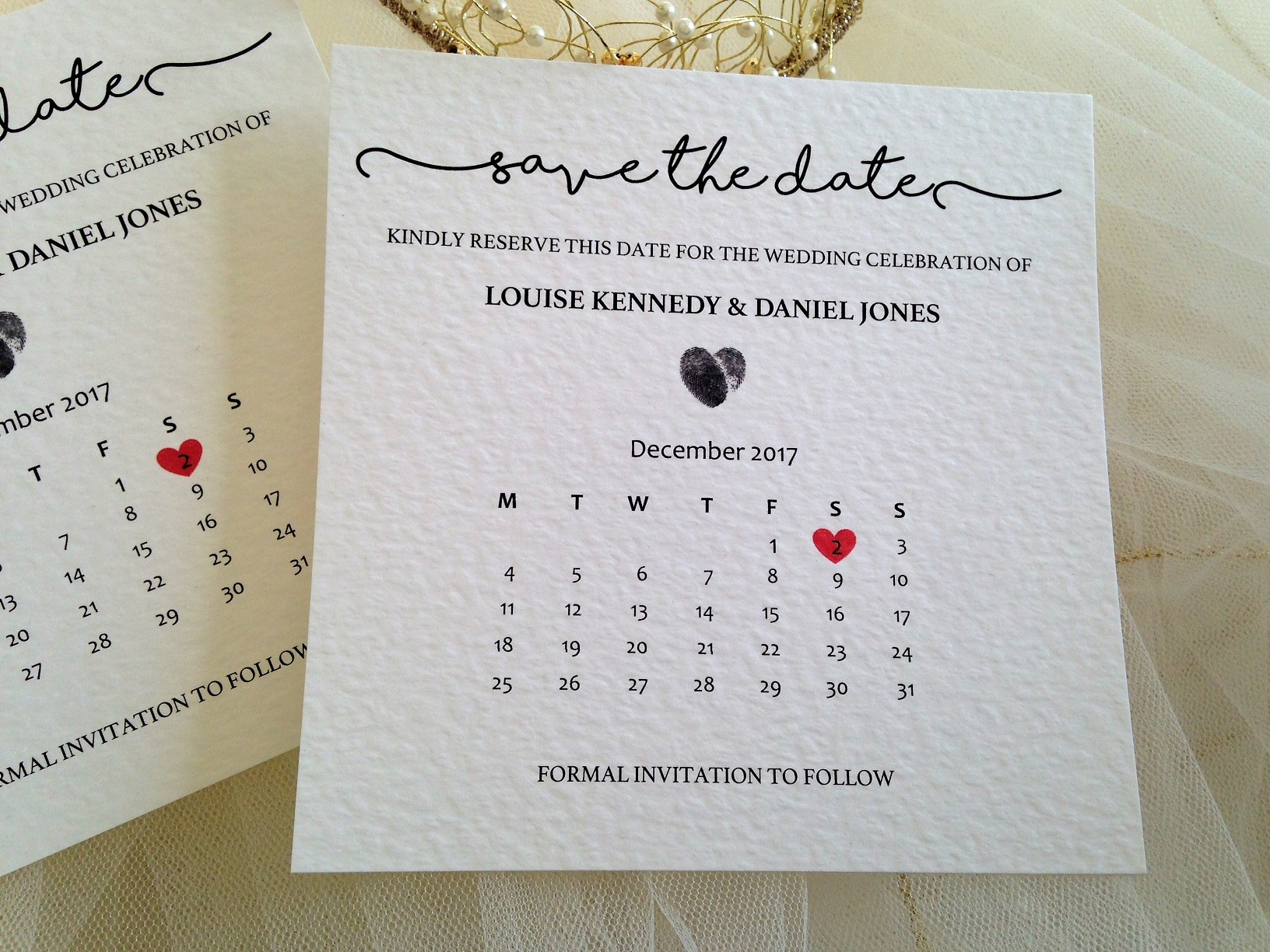 Perfect Match Calender Save The Date - Daisy Chain Invites