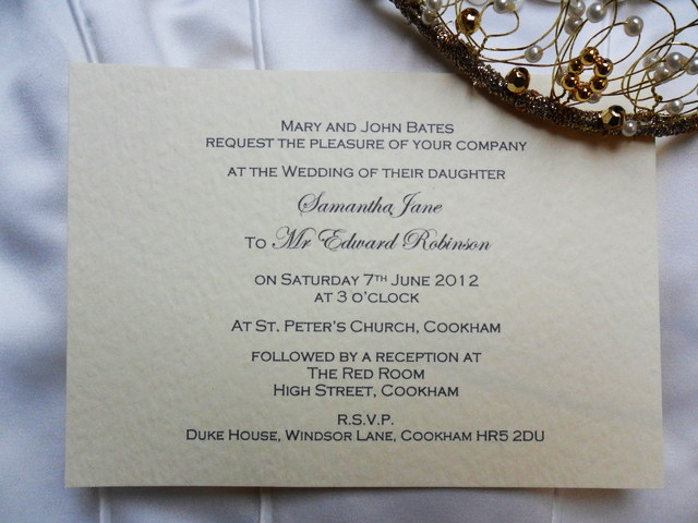 Wedding Invitation Samples Uk: A6 Single Sided Wedding Invitations From Just 60p Each