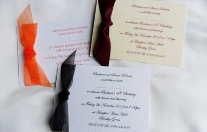 Single Sided Birthday Invitation Cards