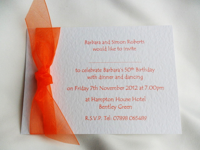 Single Sided Birthday Invitation Cards