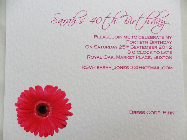 Square Flat Party Invitations