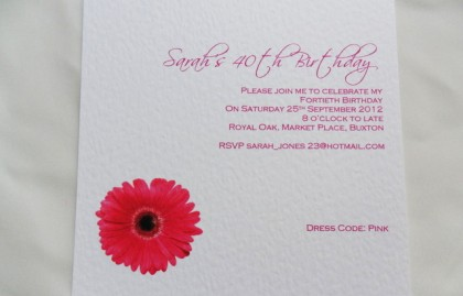 Large Square Birthday Invitation Cards