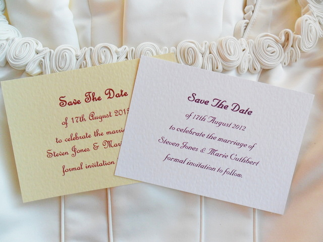 Single Sided Save The Date Cards
