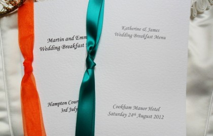 Large A5 Menu Booklets