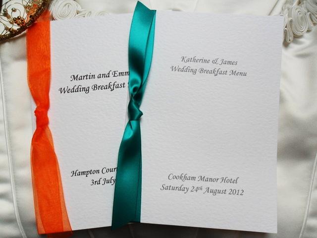 Small A6 Menu Booklets