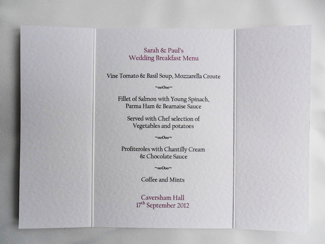 Gatefold Menu Cards
