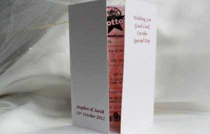 Gatefold Lottery Wedding Favour