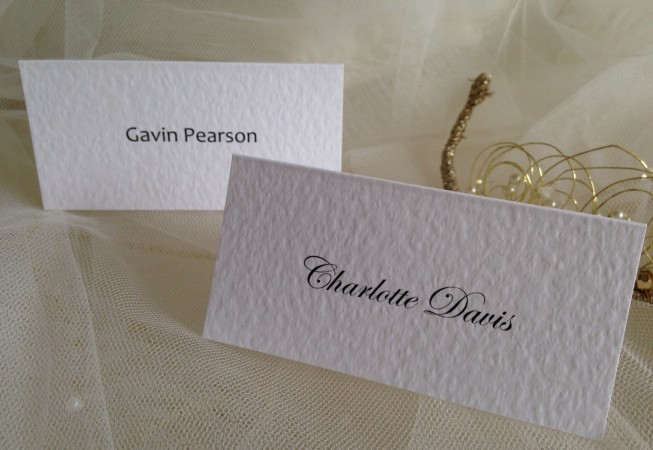 Plain Place Cards
