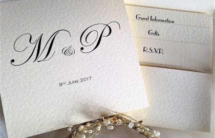 Pocketfold Wedding Invitations (Bottom Pocket)