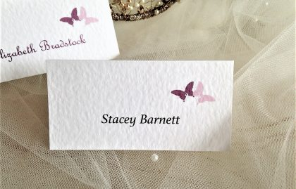Purple & Lilac Butterfly Place Cards