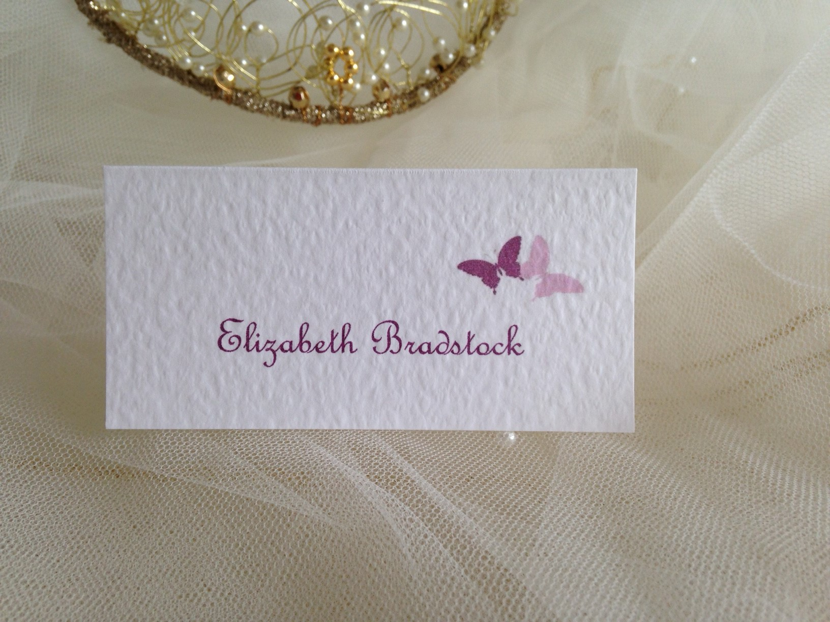 Purple and Lilac Butterfly Place Cards