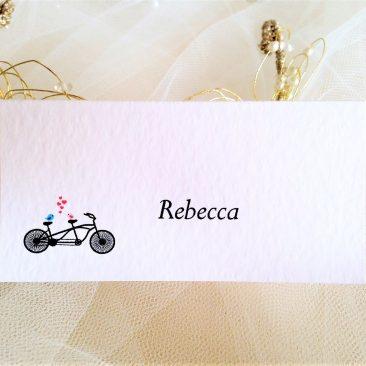 Tandem Bike Place Cards