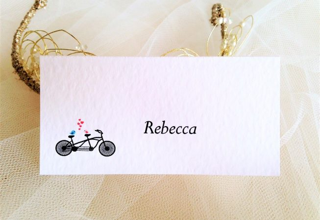 Tandem Bike Place Cards