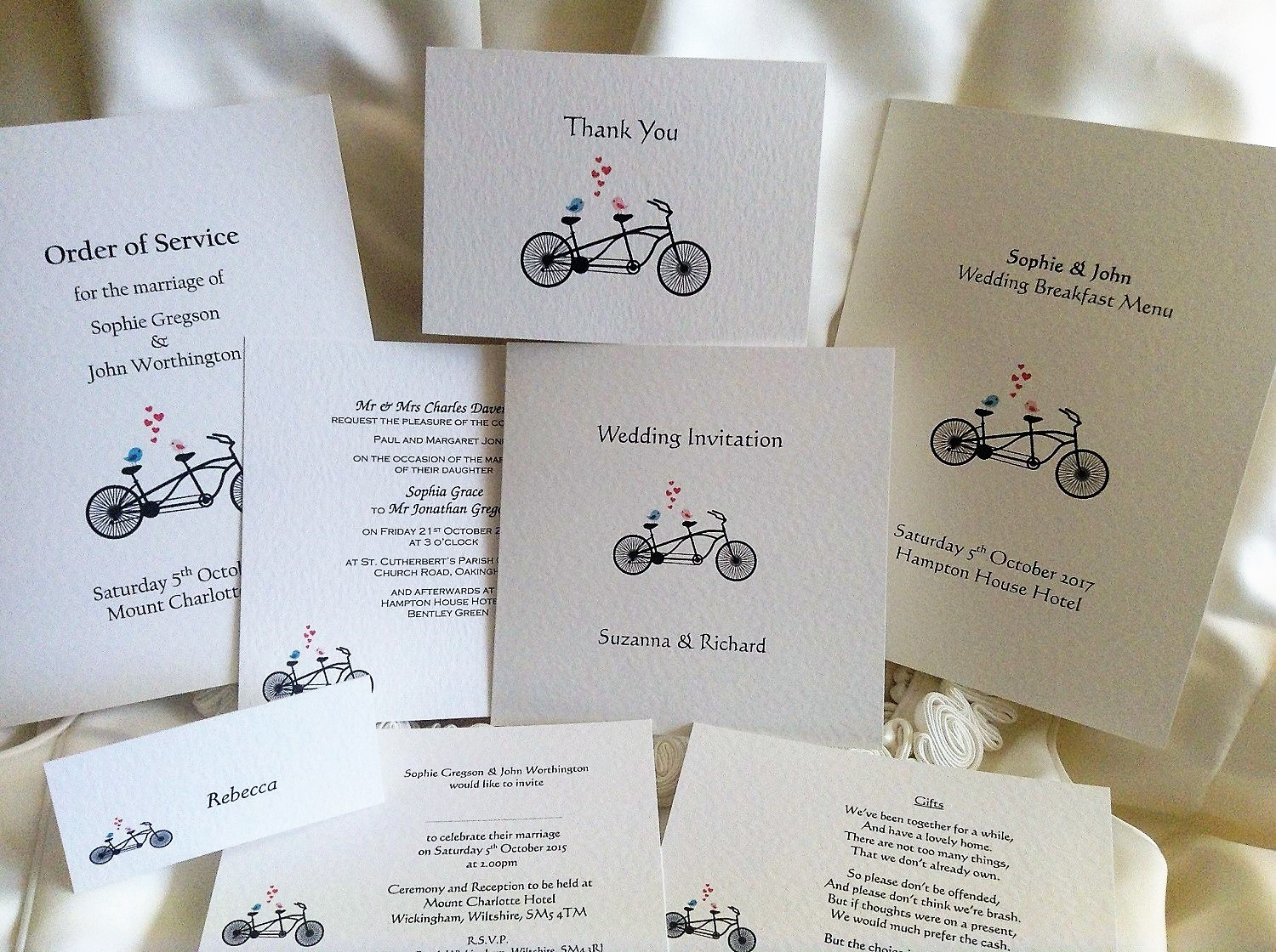 Tandem Wedding Stationery Range