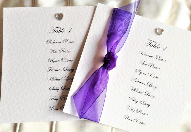 Square Table Plan Cards