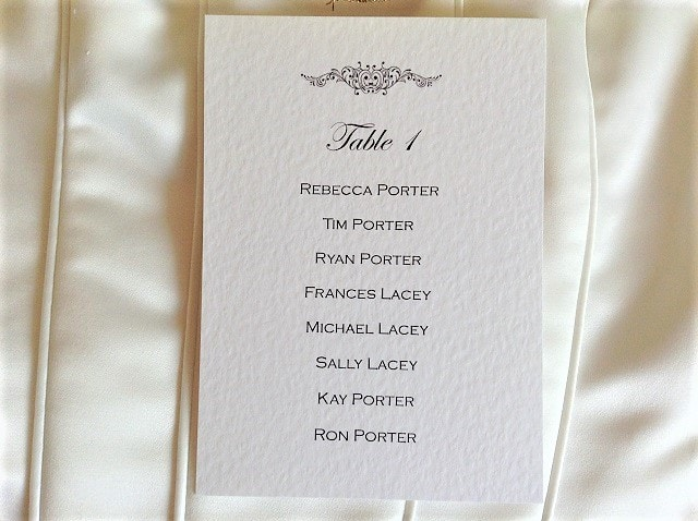 Motif Table Plan Cards