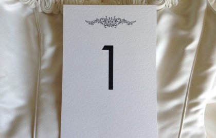 Motif Table Name and Table Number Cards