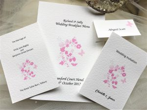 Pink Butterfly Wedding Stationery