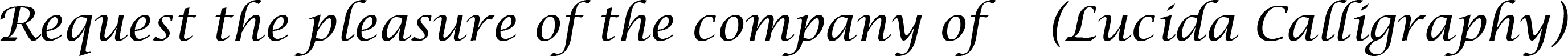 Lucida Calligraphy font