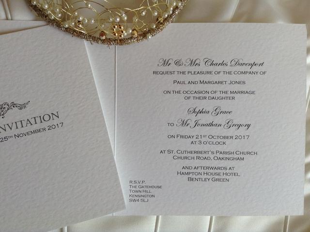 Motif Square Centre Fold Wedding Invitations