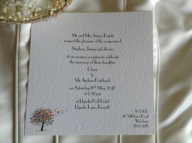 Love Tree Flat Square Wedding Invitations