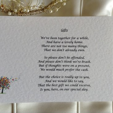 Love Tree Guest Information Cards