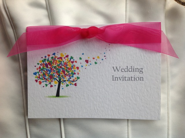 Love Tree Top Fold Wedding Invites