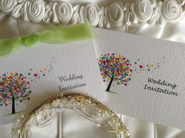 Love Tree Wedding Invitations Top Folding