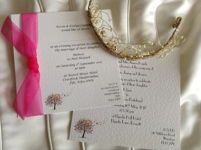 Flat Square Love Tree Wedding Invitations