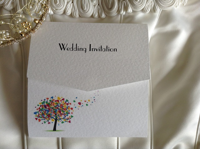 Love Tree Tri Fold Wedding Invitations