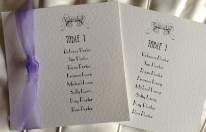 Art Deco Square Table Plan Cards