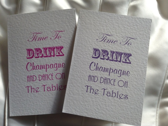 Drink Champagne Party Folded Invitations