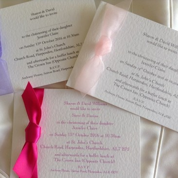 Single Sided Christening Invitations