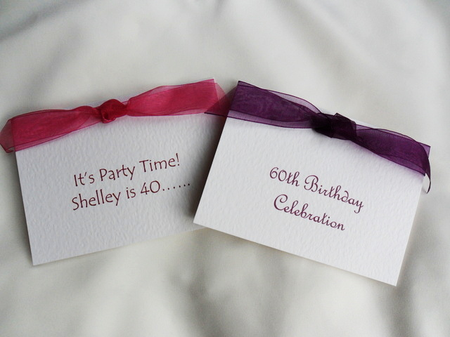 Top Ribbon Birthday Invites