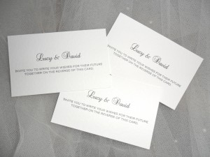 Wedding Guest Best Wishes Advice Cards