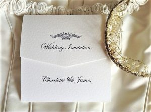 Motif Tri Fold Wedding Invitations