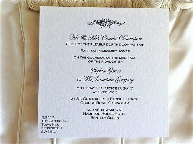 Buy Wedding Invitations Online Uk: Motif Flat Square Wedding Invitations