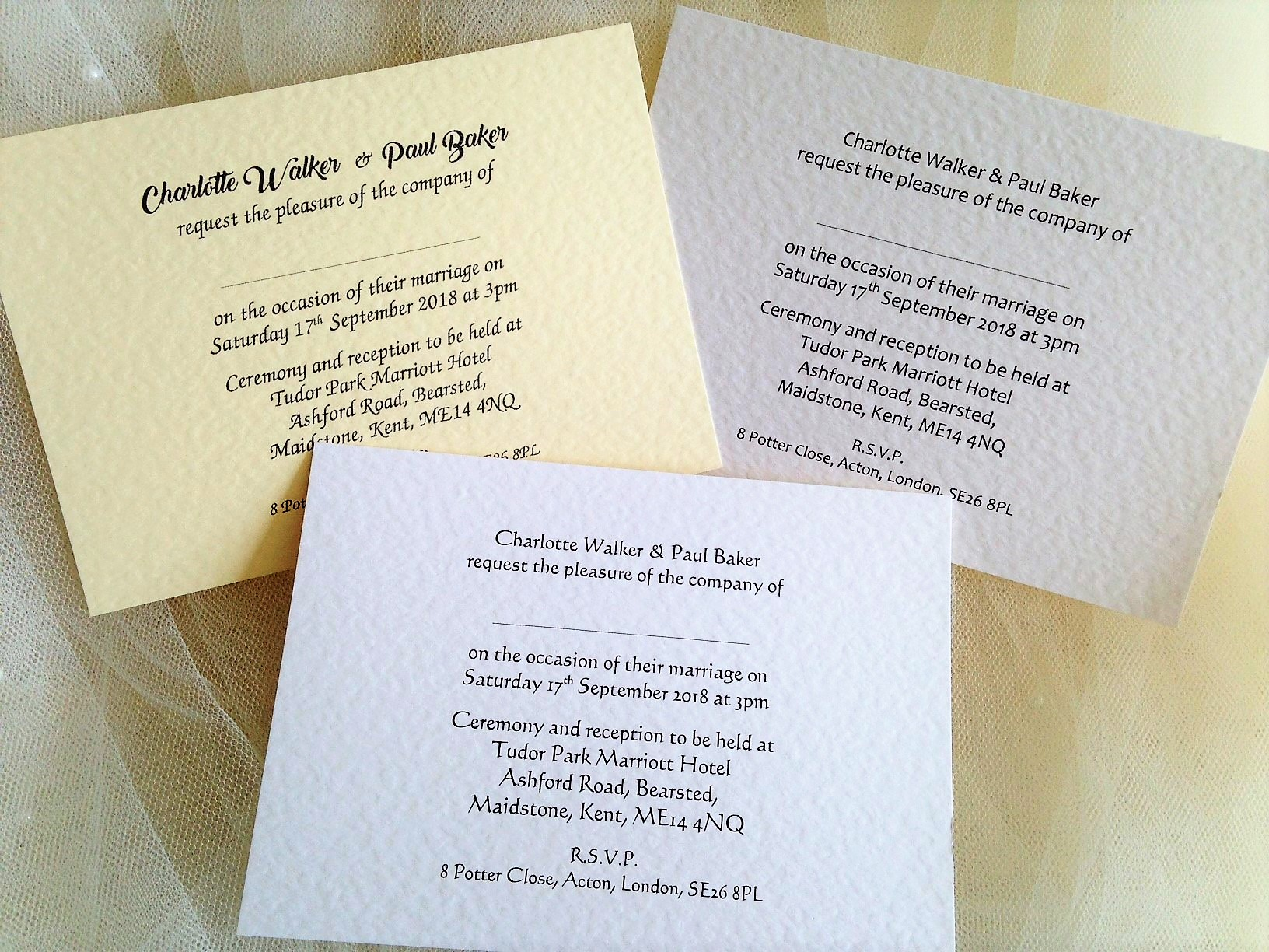 A6 Single Sided Wedding Invitations just 60p each! | Invites