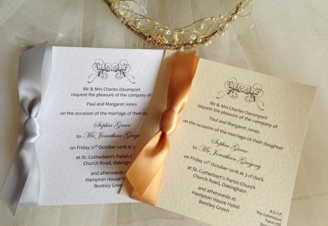 Art Deco Flat Square Wedding Invitations