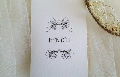 Art Deco Thank You Cards