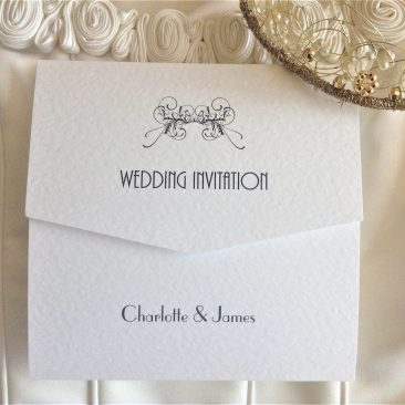 Art Deco Tri Fold Wedding Invitations