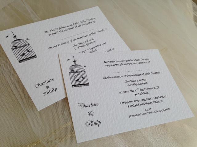 Vintage birdcage postcard wedding invitations birdcage wedding invitations facebook twitter google pinterest tumblr stopboris Gallery